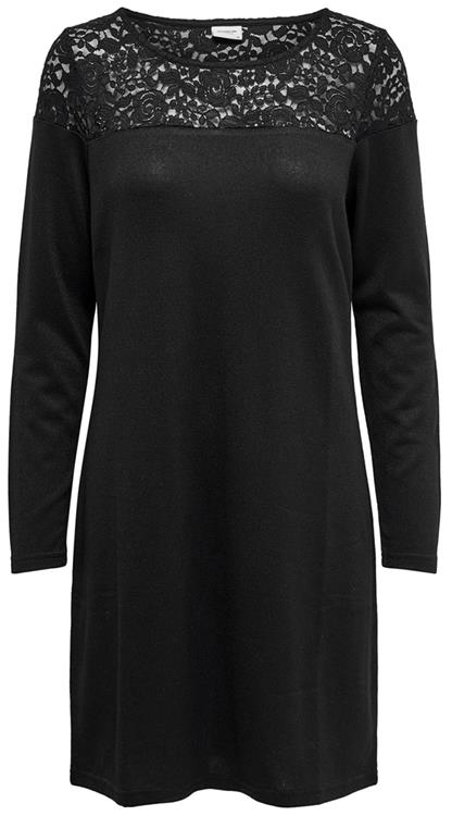 JDYNEW WINNER L/S LACE NECK DRESS JRS Black