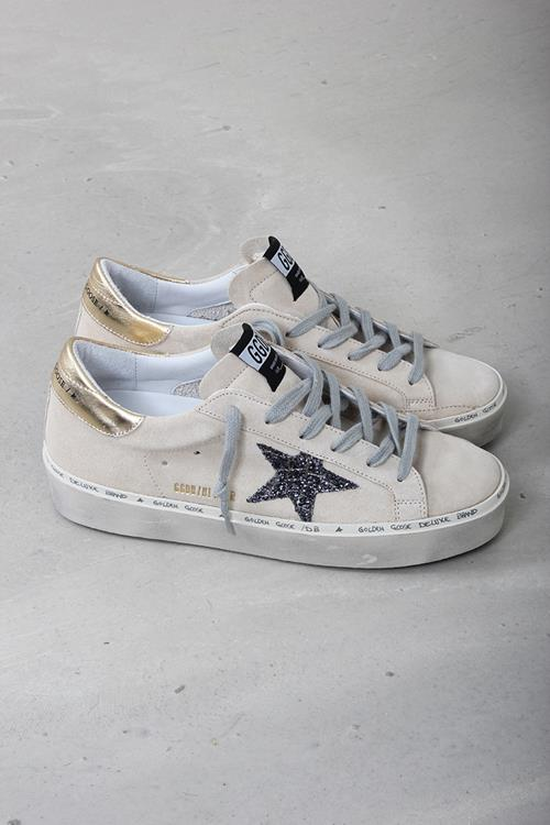 Golden Goose sneaker hi star pearl suede cocco glitter star