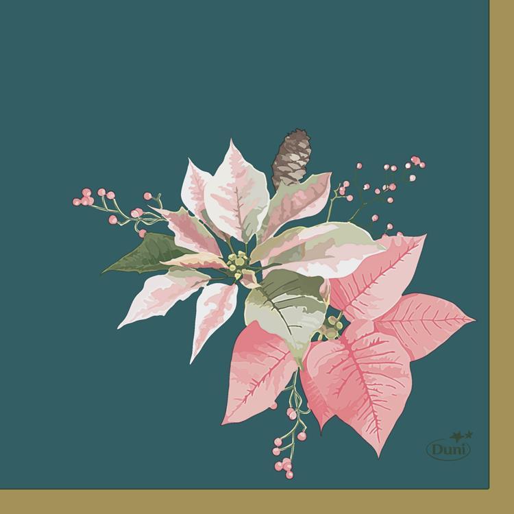 Duni servetten 24x24 cm - gold christmas
