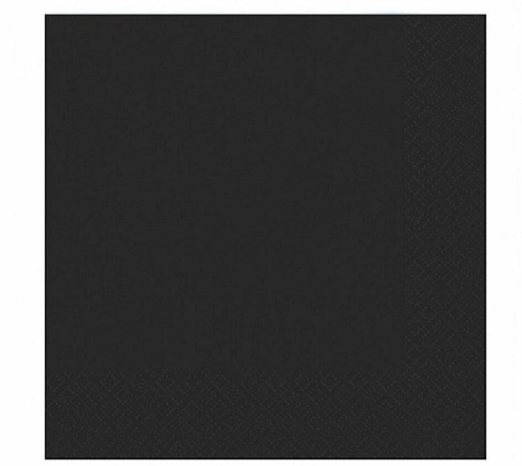 Duni servetten 33x33 cm - zwart
