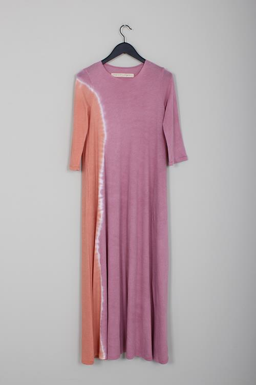 Raquel Allegra half sleeve maxi dress pink sunrise