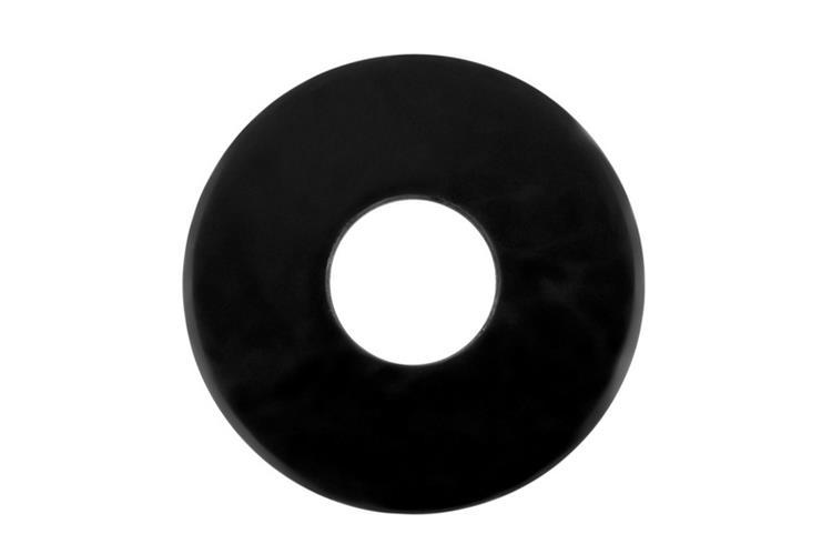 Zwarte carrosserieringen BlackLine DIN9021 M6 Deltacoll 100 st.