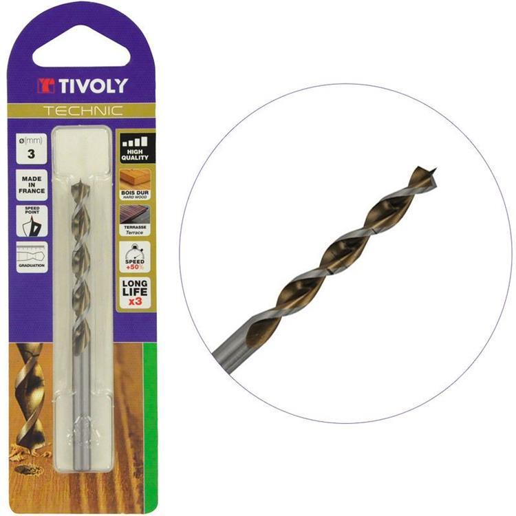 TIVOLY HSS Hardhoutboor met speedpunt 12 mm 1 st.