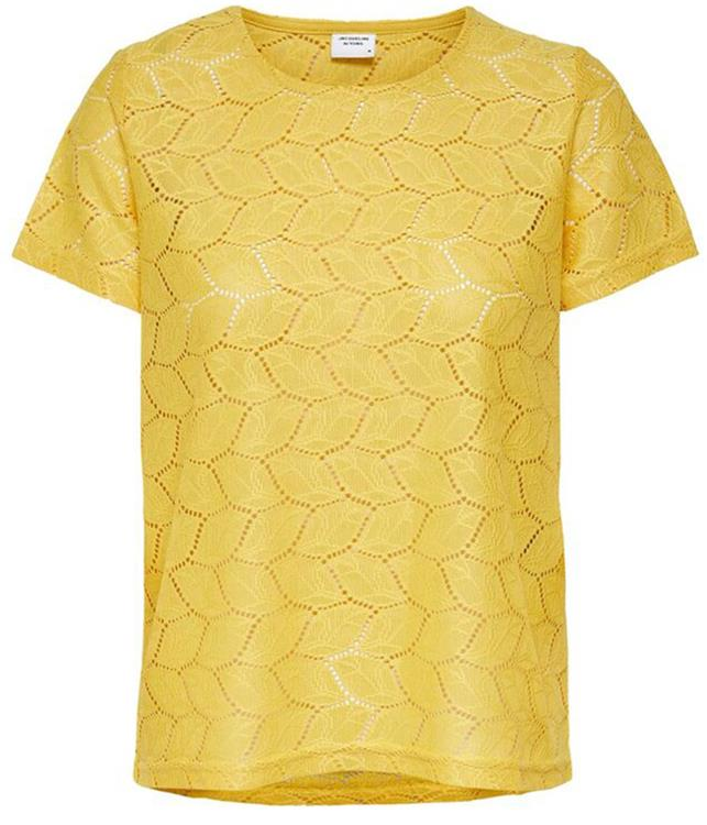 Jdytag s/s lace top jrs Misted yellow