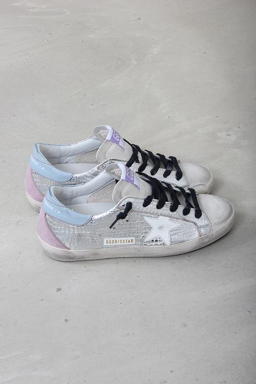 Golden Goose sneaker superstar silver laminated cocco