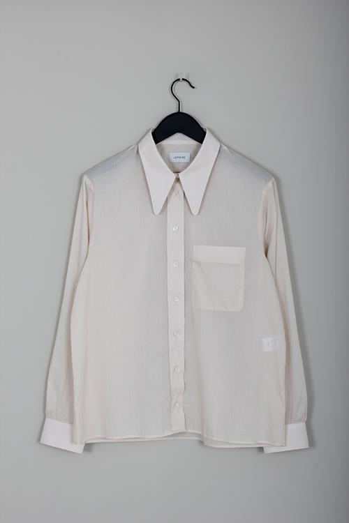 Lemaire pointed collar shirt ivory