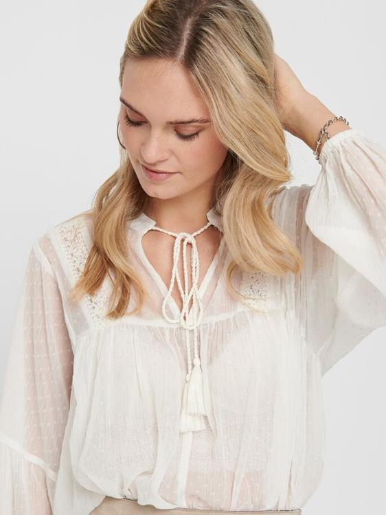 Onlnew elisa dot dnm blouse Cloud dancer/cd dot
