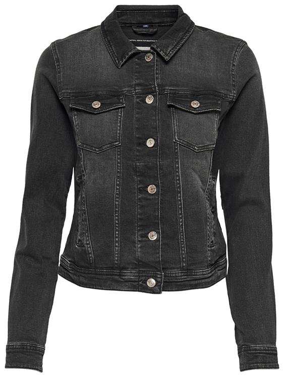 Onltia life denim jacket Black denim