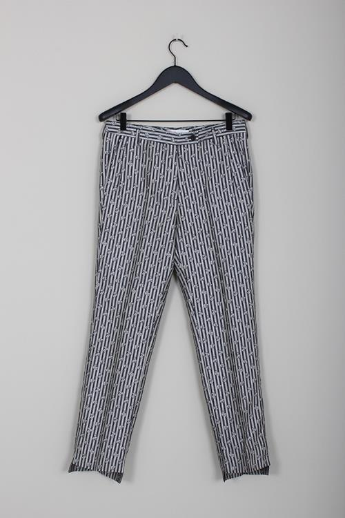 Golden Goose pant venice navy stripes flowers
