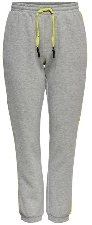Onlmixie pant Light grey melange/limeade