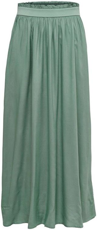 Onlvending paperbag long skirt wvn noos Chinois green
