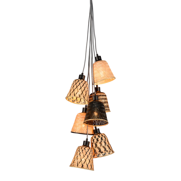 Good&Mojo Kalimantan hanglamp 7-kaps - naturel