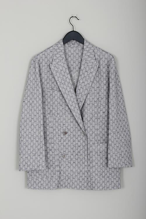 Acne Studios jay flower jacquard jacket ink blue