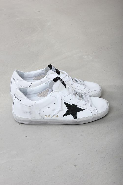 Golden Goose sneaker superstar white leather green cocco star