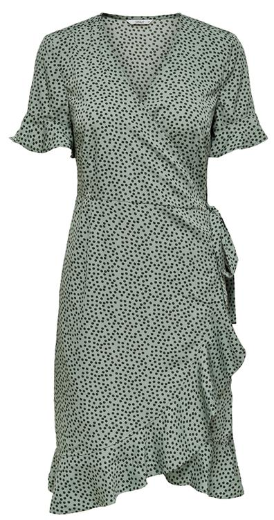 Onlolivia s/s wrap dress noos Chinois green Black Spot