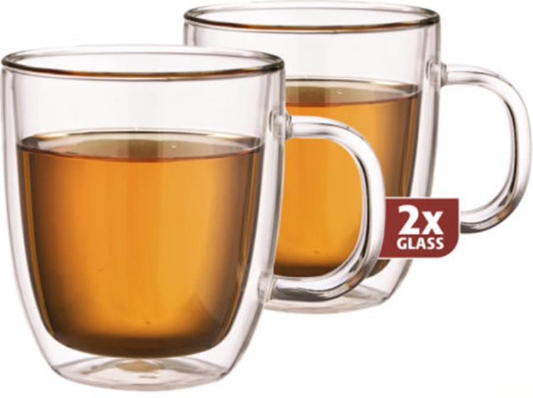 Maxxo thermo glas thee 480 ml - set van 2