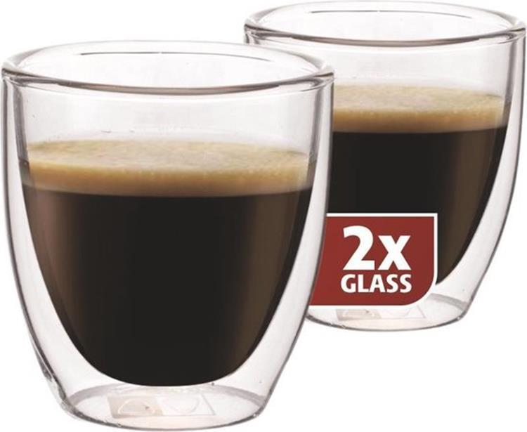 Maxxo Kleine Espressoglazen - dubbelwandig - set van 2