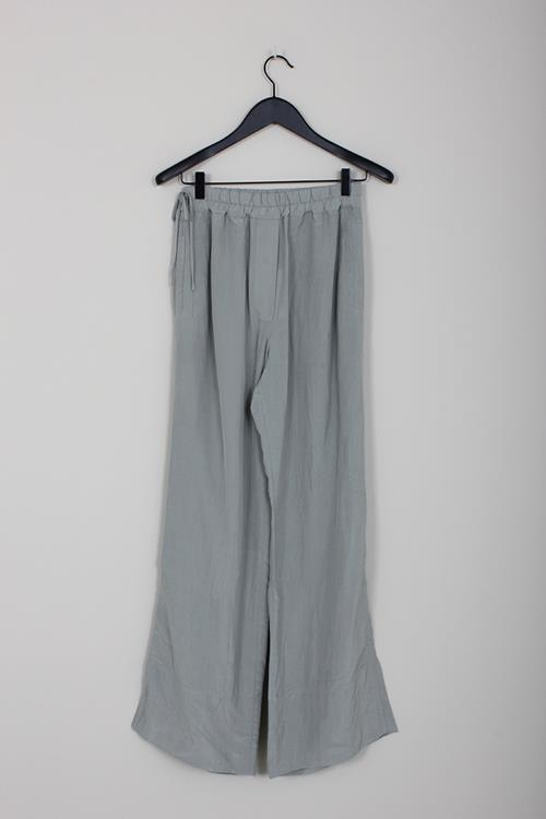 Acne Studios pame structured fluid trousers silver grey