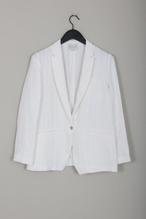 Forte Forte cotton linen herringbone jacket bianco