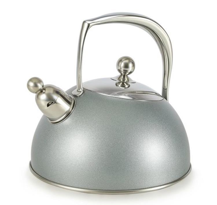 Habonne fluitketel 2 liter - metallica zilver