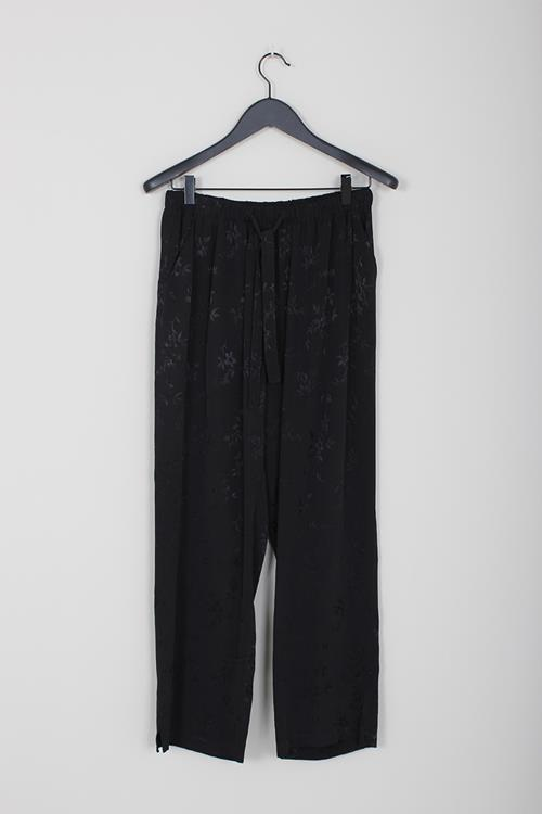 Raquel Allegra drawstring trouser black