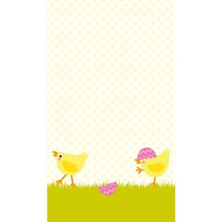 Duni tafellaken 138x220 cm - hen & chicks
