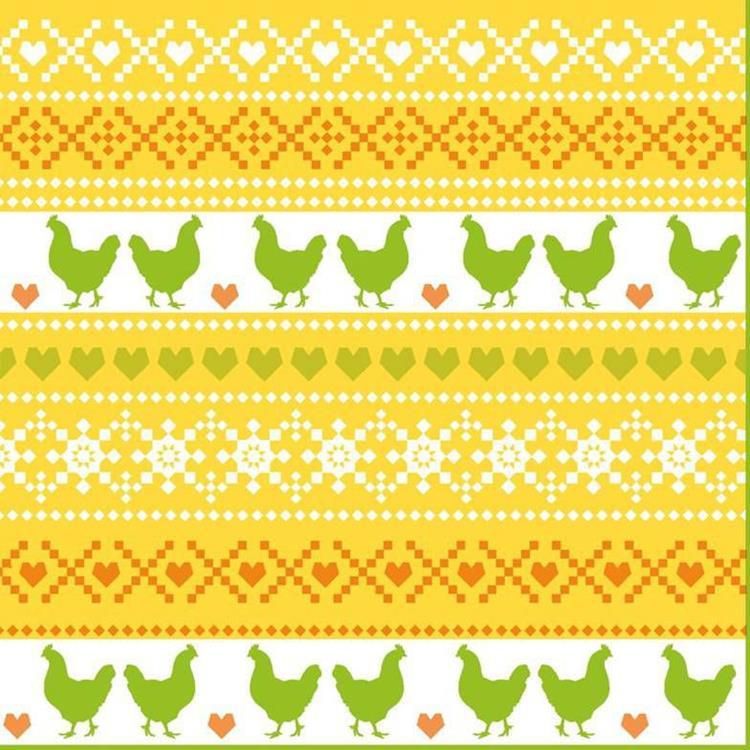 Duni servetten 33x33 cm - easter knit