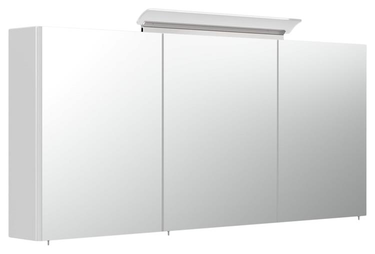 Spiegelkast Liberty Plus 140 cm Wit met LED-Acryllamp