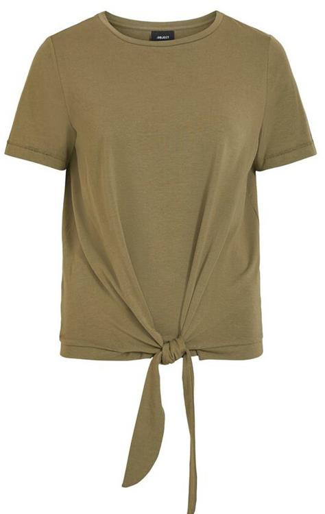 Objstephanie maxwell s/s top Burnt olive