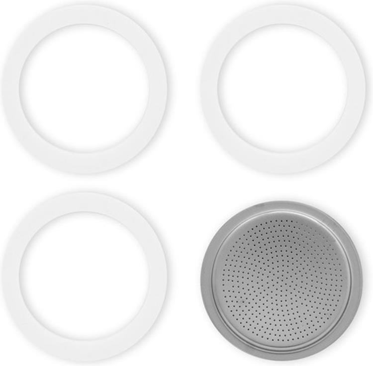 Bialetti filterplaatje + ringen 6 kops
