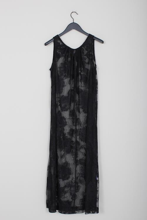 Priory floral lace dress black