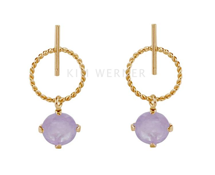 Wouters & Hendrix stud earrings with amethyst