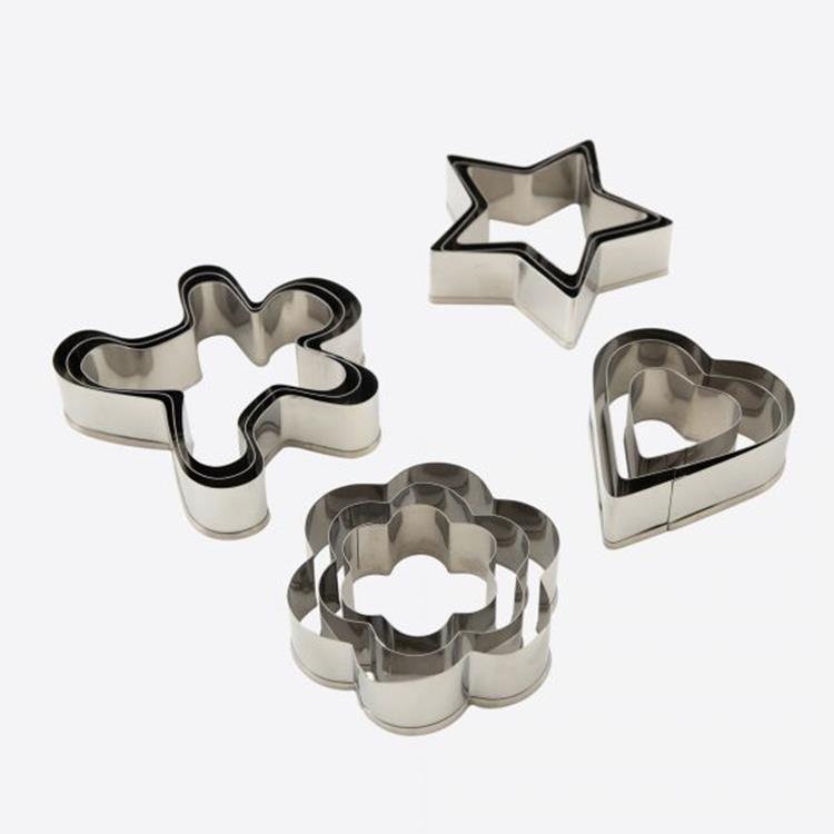 Dotz set van 3 uitsteekvormen rvs