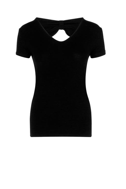 Top met cut-out en strikdetail