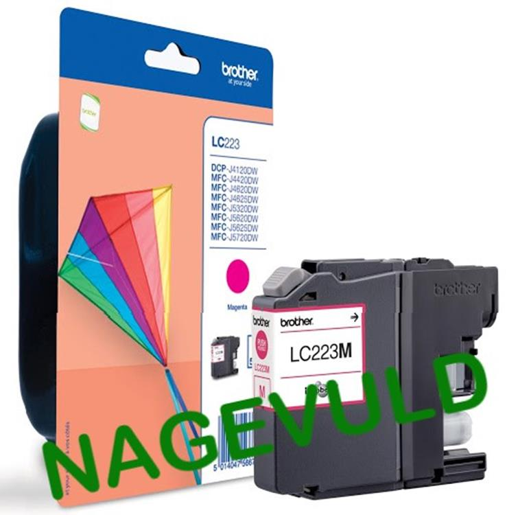Brother inktcartridge LC-223 rood NAGEVULD
