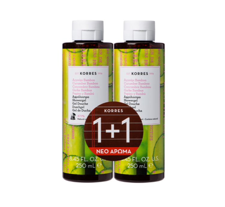 Korres - 1+1 Showergel Cucumber Bamboo - 2 x 250 ml