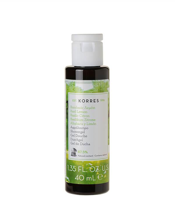 Korres - Basil Lemon Showergel - 40 ml