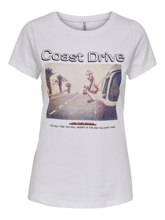 OnlIndre life fit s/s coast top Bright white