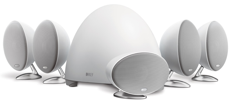 KEF E305 5.1 home theatre-systeem Wit