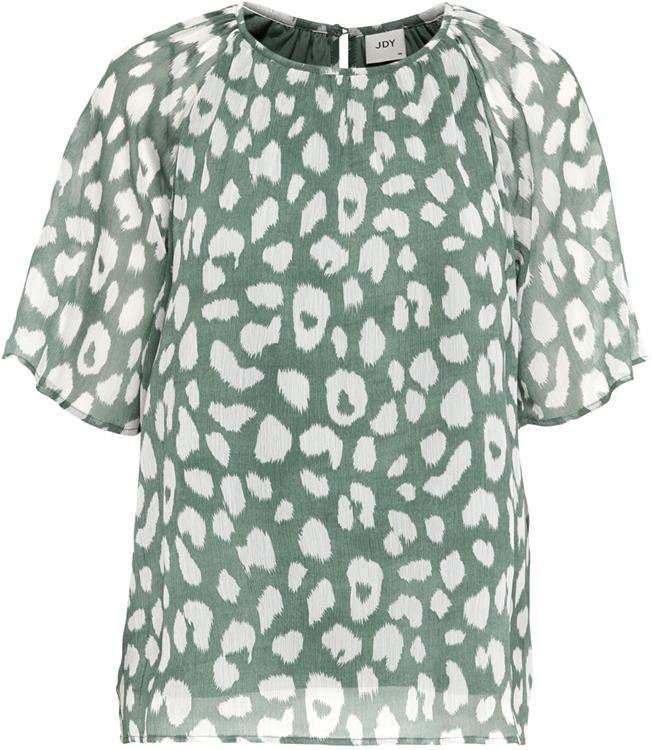 Jdysally s/s top  Chinois green/leo