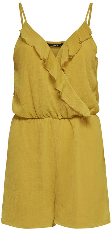 ONLTHYME LIFE  WRAP PLAYSUIT WVN  Golden spice