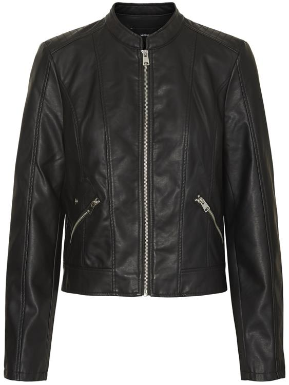 Vmkhloe favo coated jacket Black