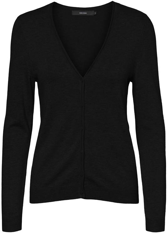 Vmnellie glory ls v-neck cardigan Black