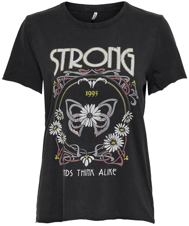 Onllucy life reg s/s sequin top Black/Strong