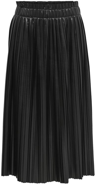 Onlmie faux leather midi pleat skirt Black