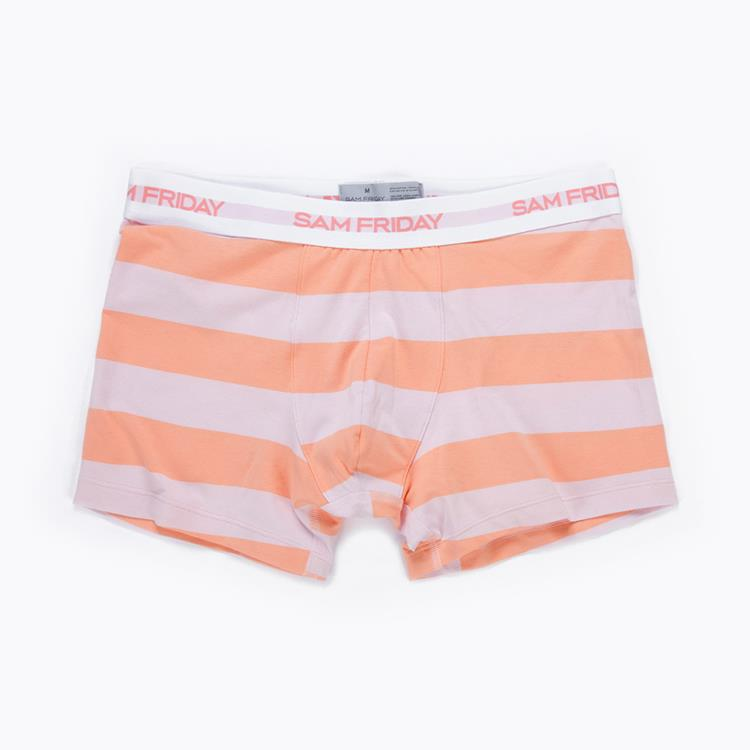 Mens Short Coral Stripe