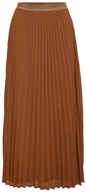 Onlmica medi skirt Ginger bread rust lurex