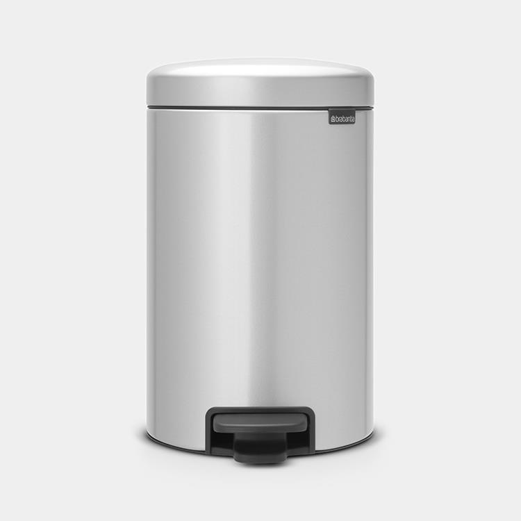 Brabantia newIcon Pedaalemmer 12 L - Metallic Grey