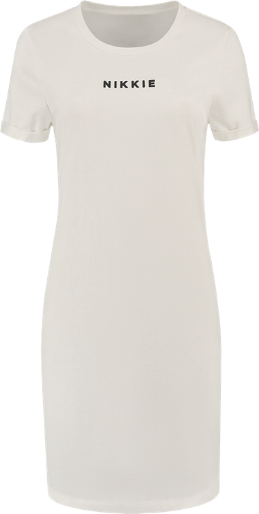 Nikkie shirt dress off white