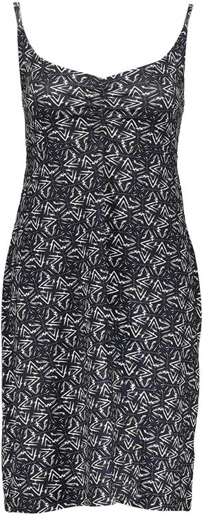 Geisha noa dress spaghetti aop Navy/white